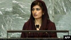 Міністр закордонних справ Пакистану Гіна Раббані Кхар. Фото AFP/ООН