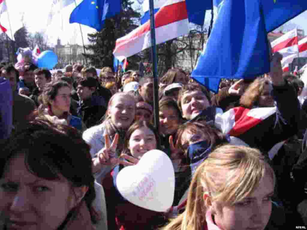 Сьвяткаваньне Дня Волі ў Менску, 25 сакавіка 2007 году