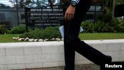 """Ispred zgrade u kojoj se nalazi advokatska firma """"Mossack Fonseca"""", Panama, 9. maj 2016."""