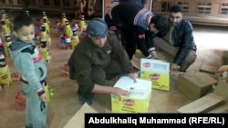 Aid being distributed in Ramadi and Fallujah on January 10