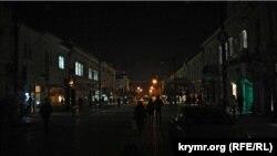 Часткове освітлення центральних вулиць Сімферополя. 8 грудня 2015 року