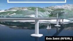 Projekcija Pelješkog mosta