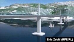 Idejno rješenje mosta na Pelješcu