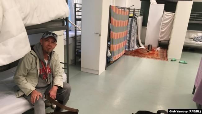 Борис Яковлев в лагере беженцев в Лиексе