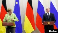 Angela Merkel dhe Vladimir Putin
