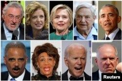 Коллаж известных личностей, на адрес которых были присланы подозрительные посылки