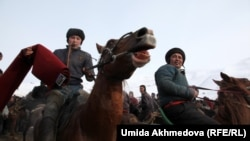 A Snowy Game Of Buzkashi