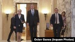 Prime minister Viorica Dancila and president Klau Iohannis