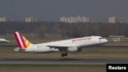 Пассажирский самолет Airbus A-320 авиакомпании Germanwings.