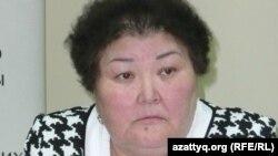 «Ар-намыс» ұйымының төрайымы Ғалия Әміртаева. Алматы, 12 сәуір 2012 жыл.