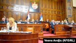 Sa sednice Skupštine na kojoj se raspravljalo o novoj vladi, avgust 2013.