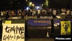 Armenia - Protesters continue to occupy Marshal Bagramian Avenue, 30Jun2015.