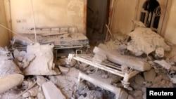 Чергова зруйнована повітряними ударами лікарня в «повстанській» частині Алеппо, фото 1 жовтня 2016 року
