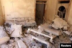 Больничная палата после бомбардировок. Восточный Алеппо, 1 октября 2016