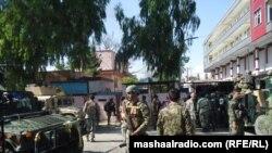 Forțele afgane la RTA TV din Jalalabad