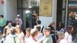 La un protest al judecătorilor la Sofia