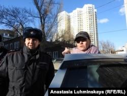 Геннадий Болтышев задерживает Ольгу Таниди
