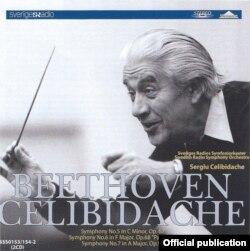 Sergiu Celibidache la pupitrul Orchestrei Radio suedeze