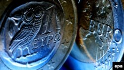 Germany/Greece -- Greek euro coins - generic, Cologne, 21May2012
