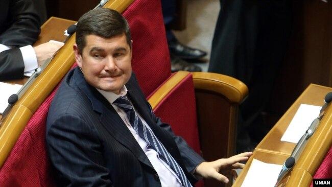 Ukrainian lawmaker Oleksandr Onyshchenko remains out of reach.