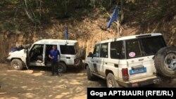 Представители МНЕС в районе села Чорчана