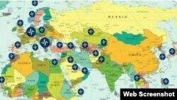 Falsa hartă a bazelor NATO din jurul Rusiei