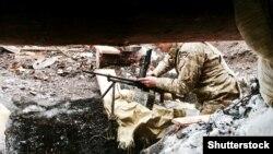 Позиція бійців ЗСУ біля Авдіївки, що неподалік від окупованого Донецька