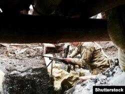 Огневая позиция вооруженных сил Украины близ Авдеевки