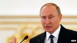 Russian President Vladimir Putin didn't say exactly what changes he wanted to make in world doping rules. (file photo)