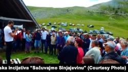 Protest na Sinjajevini, 12. jul