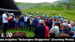 Protest na Sinjajevini, 12. juli