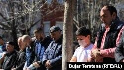 Pamje nga falja e lutjeve të së premtes në Prishtinë. 13 mars, 2020.