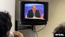 Первые вопросы были посвящены итогам президентства Владимира Путина