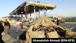 Архивска фотографија: Уништен безбедносен пункт во Авганистан
