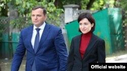 Maia Sandu și Andrei Năstase la lansarea campaniei pentru alegerile locale din 20 oct, Chișinău