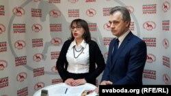 Дэпутатка Ганна Канапацкая ілідэр АГП Анатоль Лябедзька
