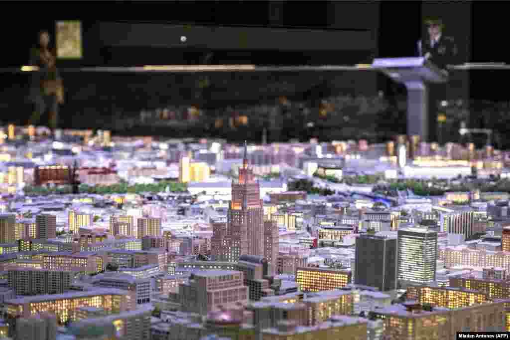 """Ovo je """"Tlocrt Moskve"""", obimna maketa ruske metropole u gradskom izložbenom centru VDNKh."""