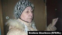 Пенсионерка Татьяна Аленкина, оставшаяся без квартиры. Алматы, 11 декабря 2013 года.
