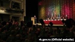 Голосування за обрання Антона Сироткіна отаманом «Чорноморського казачого війська» в Сімферополі, 18 січня 2020 року