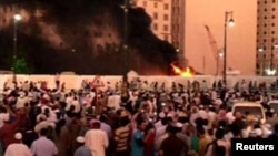 Saudi Arabia -- A suicide attack targeted the Prophet Muhammad Mosque in Medina July 4, 2016