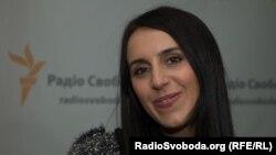 """Жамала """"Азаттык"""" радиосунун украин кызматынын кеңсесинде."""