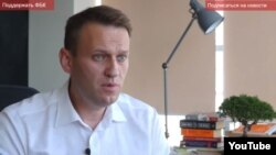 Russian opposition leader Aleksei Navalny appears in a YouTube video in January.