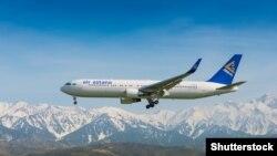 Air Astana ұшағы. Көрнекі сурет.