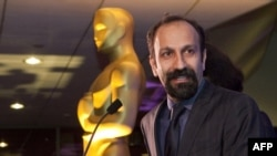 "Iranian director Asghar Farhadi: ""I proudly offer this award to the people of my country."""