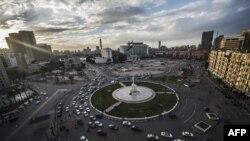 Площадь Тахрир в центре египетской столицы Каира, пять лет спустя после массовых выступлений