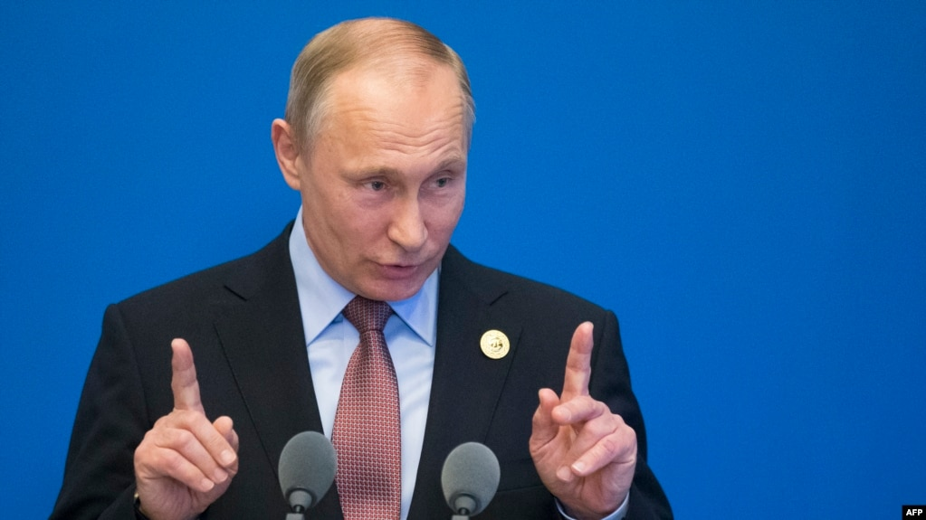 Russian President Vladimir Putin made his comments in Beijing on May 15.
