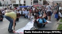 Протест против полициска бруталност организиран на повик на братот на убиениот Мартин Нешкоски, Александар, на 29 септември 2011 година.