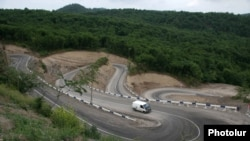 Armenia -- A newly constructed road between Paravakar and Vazashen border villages in Tavush region, 02Jul2015