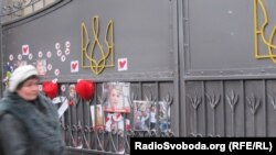 Well-wishers adorned a gate with flowers at the Kachaniv labor camp where former Prime Minister Yulia Tymoshenko is being held.