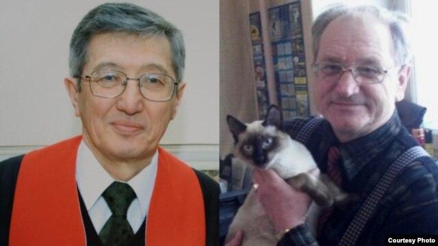 Bakhtzhan Kashkumbaev (left) and Aleksandr Kharlamov